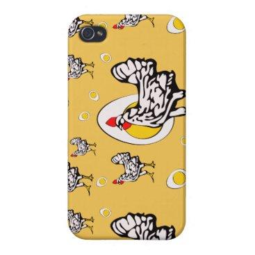 Roseanne Chicken, Retro Chickens Case For iPhone 4