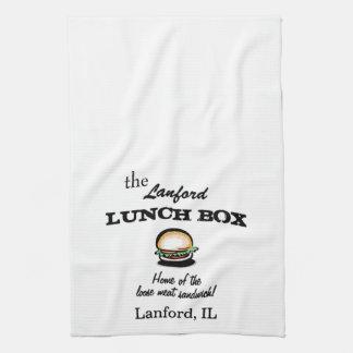 Roseanne Lanford Lunch Box Dish Towel