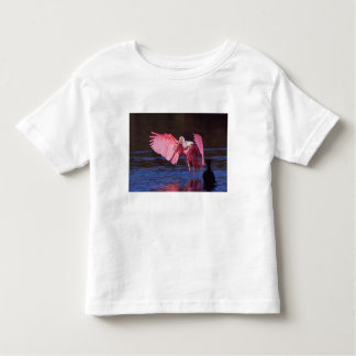 Roseate Spoonbill (Ajaia ajaja) with Cormorant Toddler T-shirt