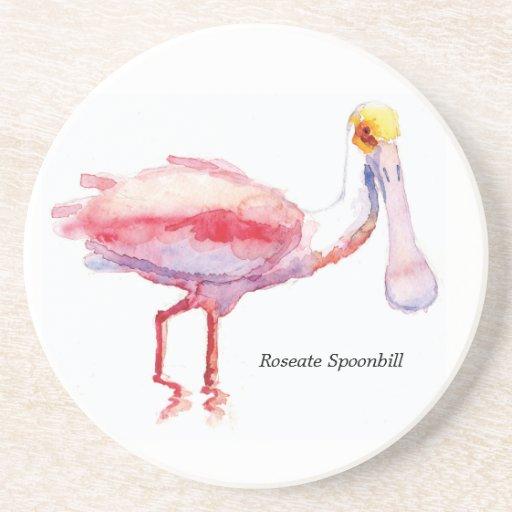 Roseate Spoonbill coaster