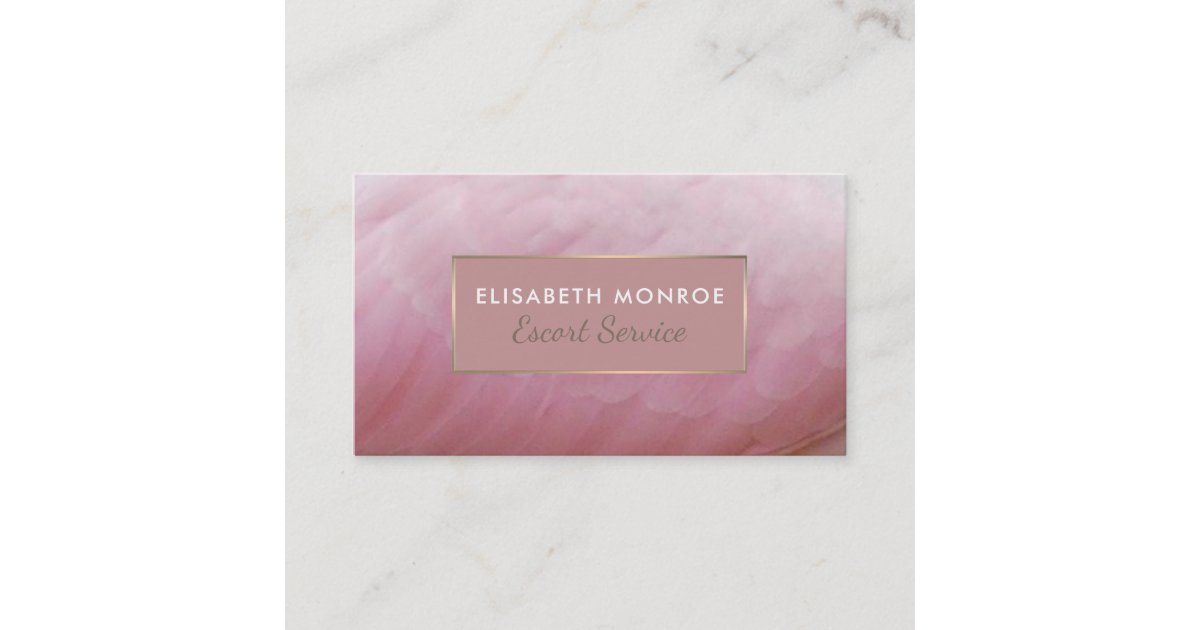 Roseate Spoonbill Feathers, Escort Service Business Card | Zazzle.com