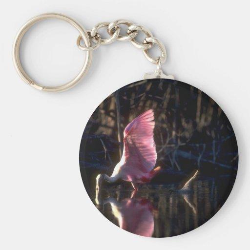 Roseate Spoonbill, fishing Key Chain