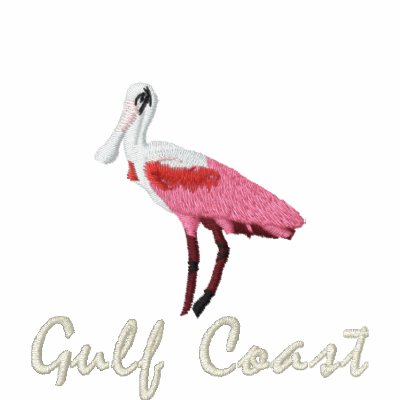Roseate spoonbill Gulf coast Embroidered Polo Shirt