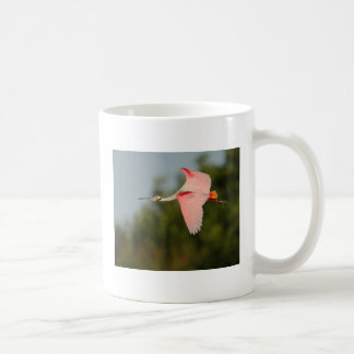 Roseate Spoonbill in Flight Coffee Mug