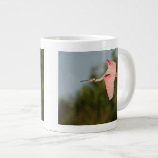 Roseate Spoonbill in Flight Large Coffee Mug