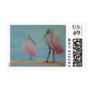 ROSEATE SPOONBILLS IN FLORIDA Postage Stamp