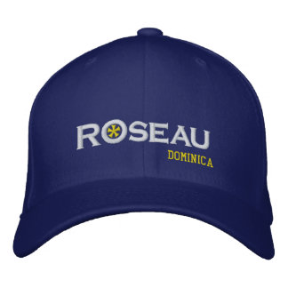 Roseau City Dominica Embroidered Baseball Hat
