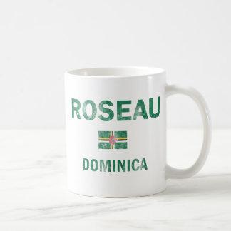 Roseau Dominica Designs Classic White Coffee Mug