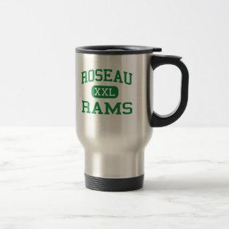 Roseau - Rams - High School - Roseau Minnesota 15 Oz Stainless Steel Travel Mug