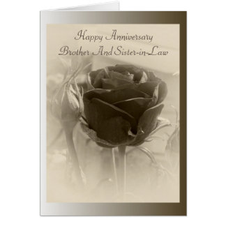 Rosebud Brother And Wife Wedding Anniversary Card
