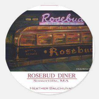 Rosebud Diner Classic Round Sticker
