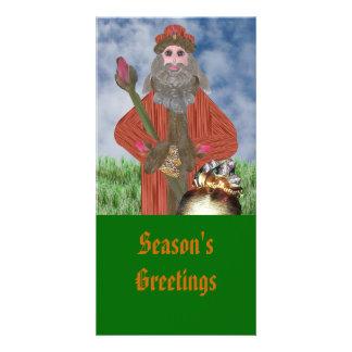 Rosebud Father Christmas Card