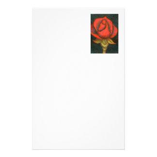 """""""Rosebud"""" Floral Stationery"""