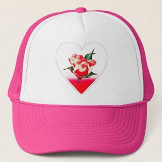 Rosebud heart trucker hat