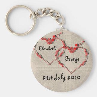 Rosebud Hearts Keychain