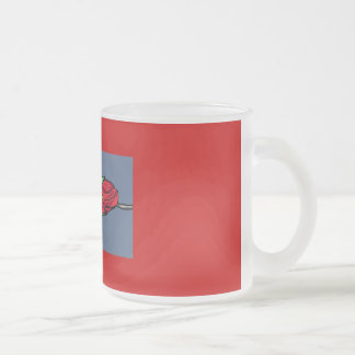 Rosebud in Window 10 Oz Frosted Glass Coffee Mug