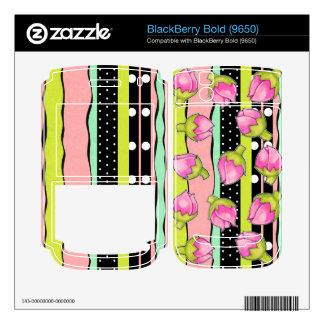 Rosebud Joy color Blackberry Bold (9650) Skin Decal For BlackBerry Bold