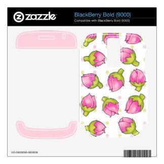 Rosebud Joy dots Blackberry Bold (9000) Skin Decal For BlackBerry