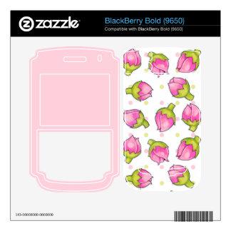 Rosebud Joy dots Blackberry Bold (9650) Skin BlackBerry Bold Skin