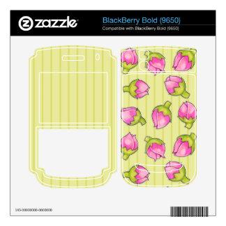 Rosebud Joy green Blackberry Bold (9650) Skin Decal For BlackBerry