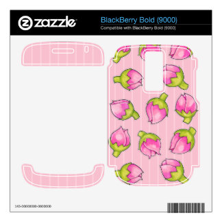 Rosebud Joy pink Blackberry Bold (9000) Skin BlackBerry Bold Skins