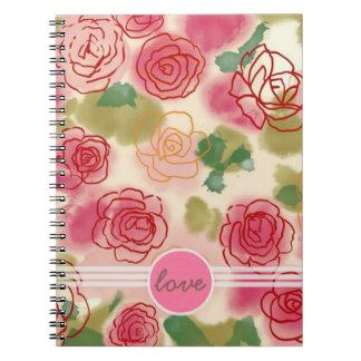 Rosebud Love  notebook planner