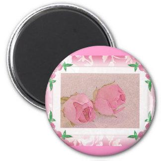 Rosebud Magnet..Wedding Favor 2 Inch Round Magnet