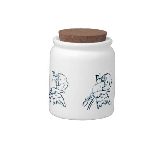 Rosebud Pencil Sketch Art Candy Jars