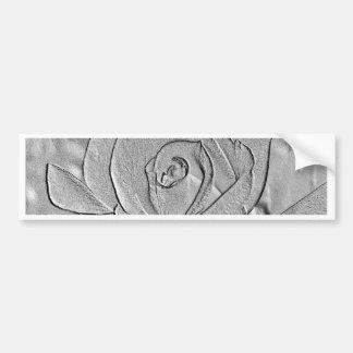 Rosebud Silver Embossed Bumper Sticker