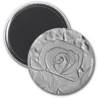 Rosebud Silver Embossed Magnet