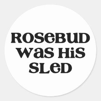Rosebud Sled Classic Round Sticker