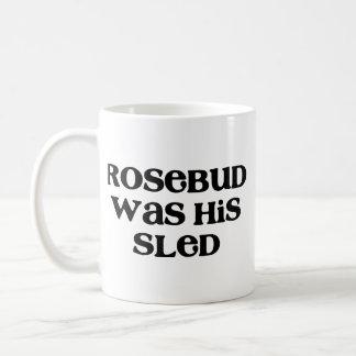 Rosebud Sled Classic White Coffee Mug