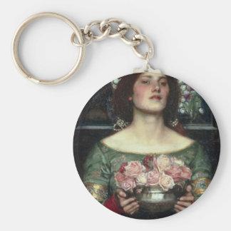 Rosebuds by John William Waterhouse Key Chain