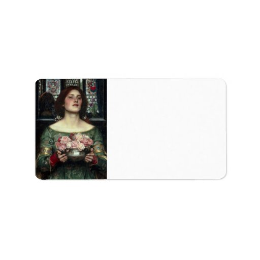 Rosebuds by John William Waterhouse Personalized Address Label