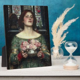 Rosebuds by John William Waterhouse Plaque