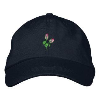 Rosebuds Embroidered Baseball Cap