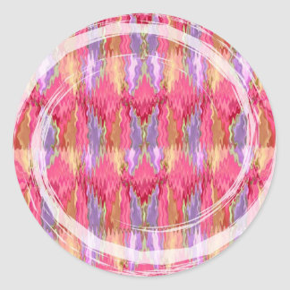 RoseBuds n Petals Decoration Art Classic Round Sticker