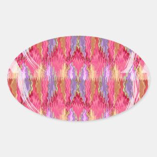RoseBuds n Petals Decoration Art Oval Sticker