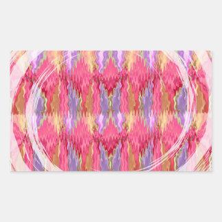 RoseBuds n Petals Decoration Art Rectangular Sticker