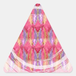 RoseBuds n Petals Decoration Art Triangle Sticker