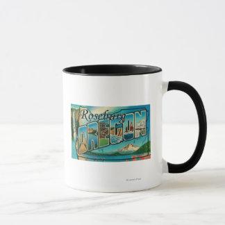Roseburg, Oregon - Large Letter Scenes Mug