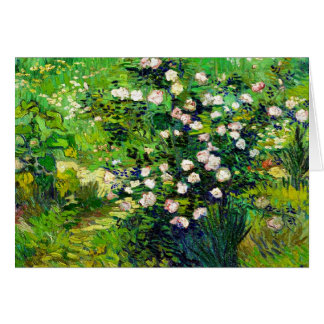 Rosebush in Blossom by Vincent Van Gogh Greeting Card