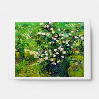 Rosebush in Blossom by Vincent Van Gogh Envelope