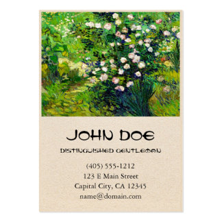 Rosebush in Blossom by Vincent Van Gogh Large Business Card