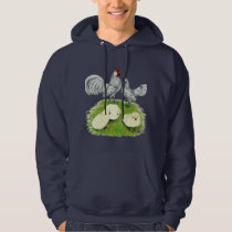 Rosecomb Bantams and Chicks Hoodie