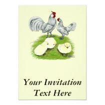 Rosecomb Bantams and Chicks Invitation
