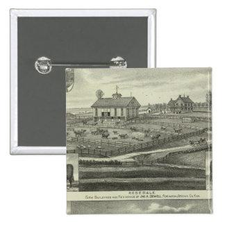 Rosedale, Robinson Hickory Grove, Kansas Pinback Button