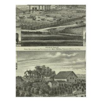 Rosedale, Robinson Hickory Grove, Kansas Postcard