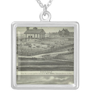 Rosedale, Robinson Hickory Grove, Kansas Silver Plated Necklace