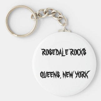 ROSEDALE ROCKS QUEENS, NEW YORK KEYRING KEY CHAINS
